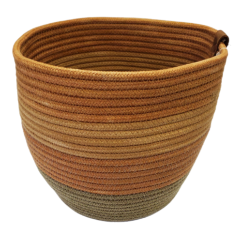 Stonehouse Made Hand-Woven Tri-Colour Gold Large Pot