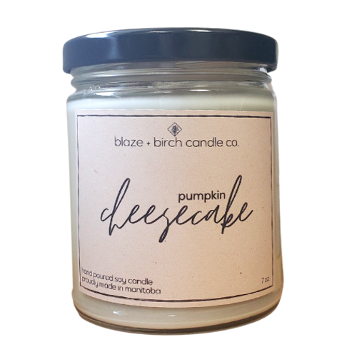 Blaze + Birch Candle Co. - Pumpkin Cheesecake Hand Poured Soy Candle