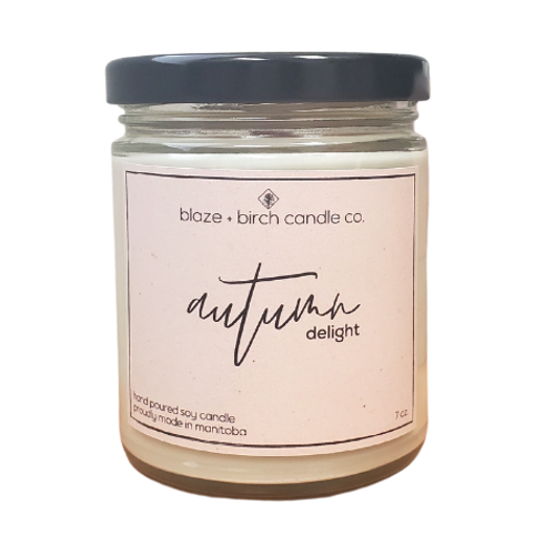 Blaze + Birch Candle Co.  Autumn Delight Hand Poured Soy Candle