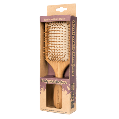 Brush with Bamboo Bamboo Hair Brush Packaging