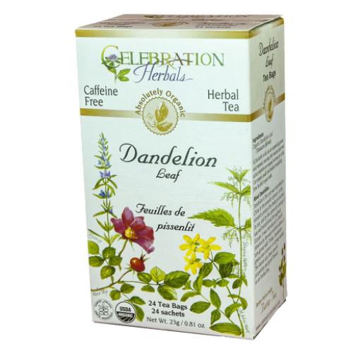 Celebration Herbals Dandelion Leaf herbal tea, caffeine free.  24 tea bags.