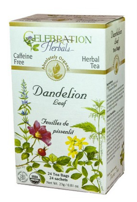 Celebration Herbals Dandelion Leaf Raw Herbal Tea 24 Tea Bags