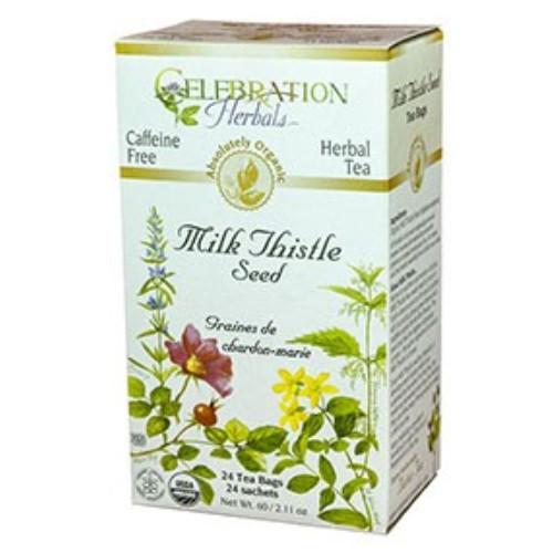 Celebration Herbals Milk Thistle Tea, 24 tea bags.