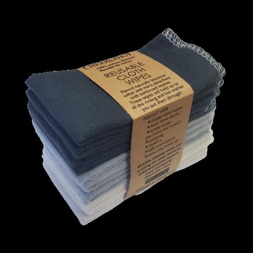 Cheeks Ahoy - Warm Neutral Charcoal Reusable Cloth Wipes