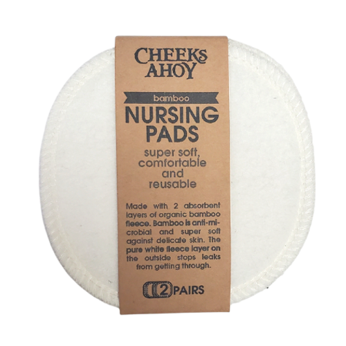 Cheeks Ahoy White Bamboo Nursing Pads