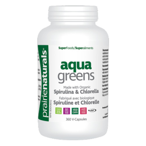 Prairie Naturals Aqua Greens 360 vcapsules new look