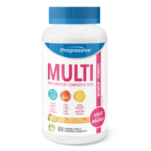 Progressive Chewable Multi for Adult Women.  60 tablets