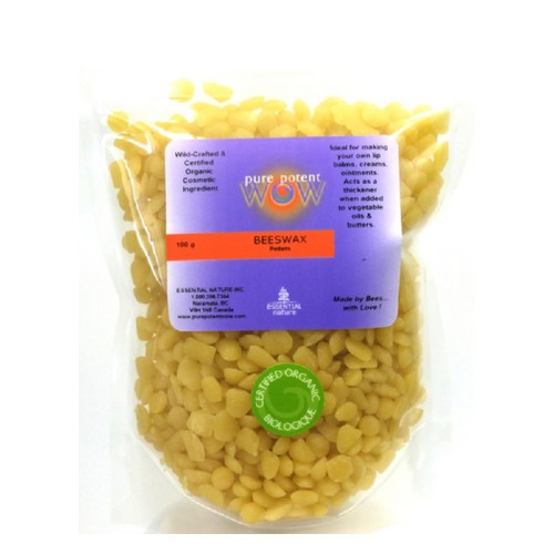 Pure Potent WOW organic beeswax pellets.  100 grams
