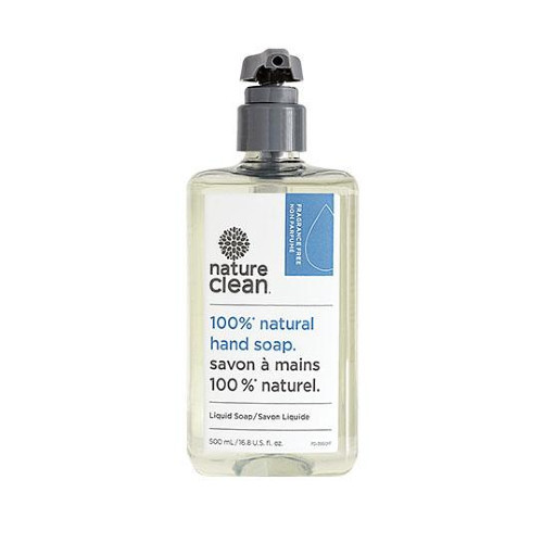 Nature Clean Unscented natural liquid hand soap.  500 ml