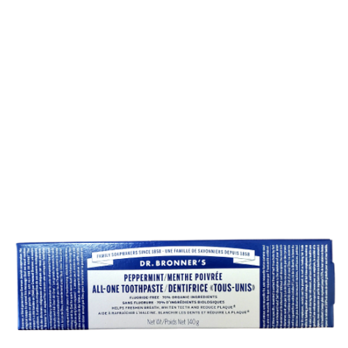 Dr. Bronner's - Peppermint All-One Toothpaste Box