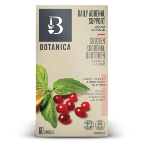 Botanica Daily Adrenal Support Liquid Capsule 60 capsules New Packaging