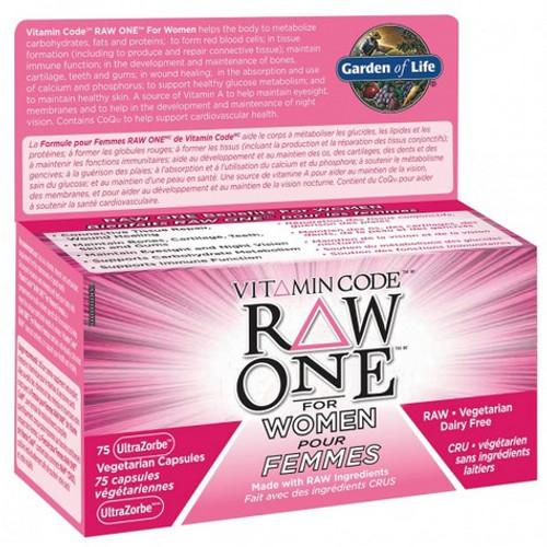 Garden of Life Vitamin Code Raw One for Women 75 capsules.