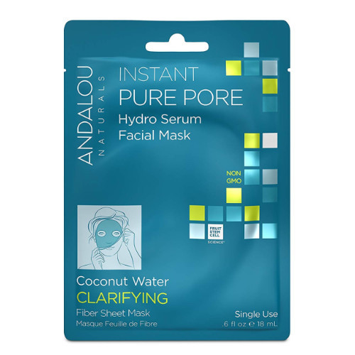 Andalou Naturals Instant Pure Pore Hydro Serum Facial Mask, Clarifying, single use.  18 ml