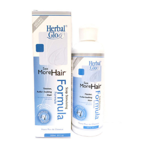 Herbal Glo See More Hair Scalp Stimulating Formula, thicker, fuller looking hair.  250 ml