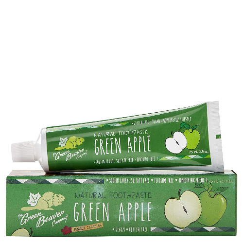 Green Beaver Company Natural Toothpaste Green Apple, fluoride free. 75 ml