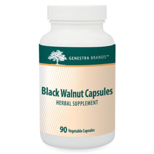 Genestra Brands Black Walnut Capsules for digestive issues.  90 veg caps
