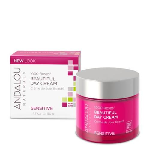 Andalou Naturals 1000 Roses Beautiful Day Cream sensitive skin.  50 ml.