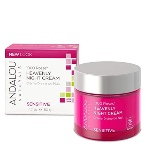 Andalou 1000 Roses Heavenly Night Cream, sensitive skin.  50 ml