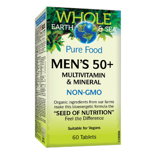 Natural Factors Whole Earth & Sea Men's 50+ multivitamin and mineral.  60 tablets