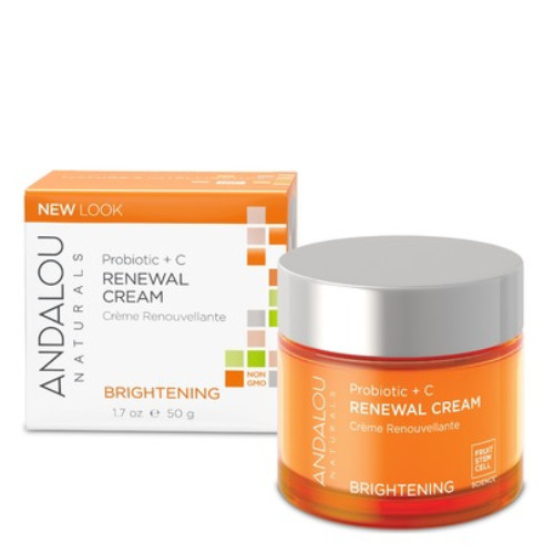Andalou Naturals Renewal Cream Probiotic +C Brightening, 50 grams
