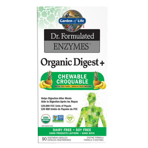 Dr. Formulated Enzymes, Organic Digest +, chewable tabs.