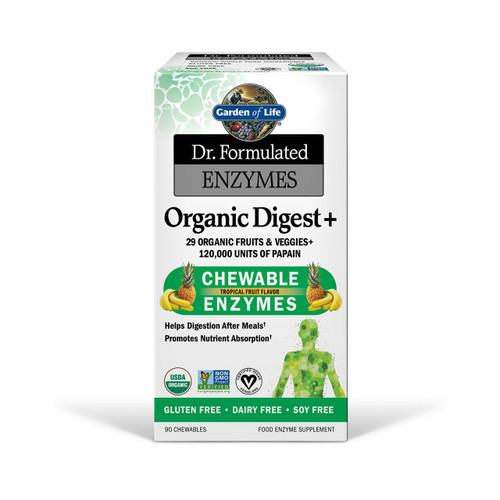 Garden of Life Organic Digest + Chewable Enzymes 90 tablets