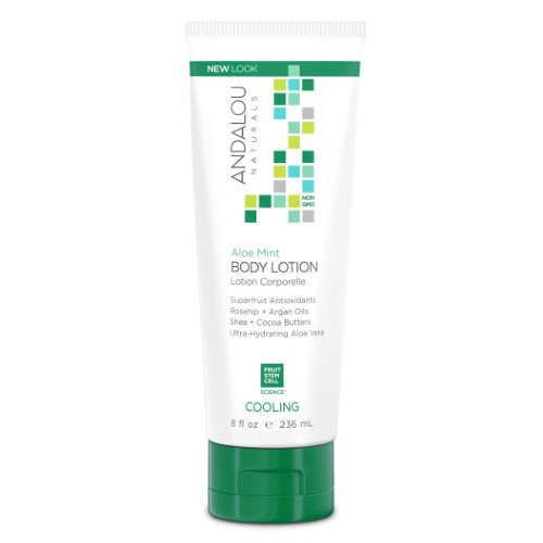 Andalou Naturals Aloe Mint Body Lotion, cooling, 237 ml.