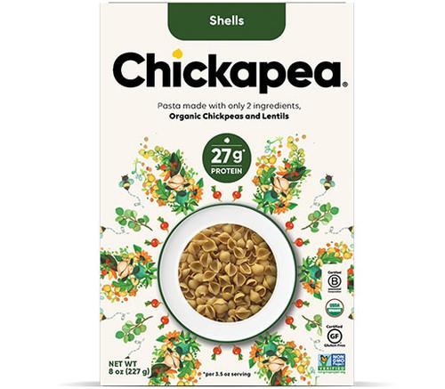 Chickapea Pasta Shells Canada new packaging