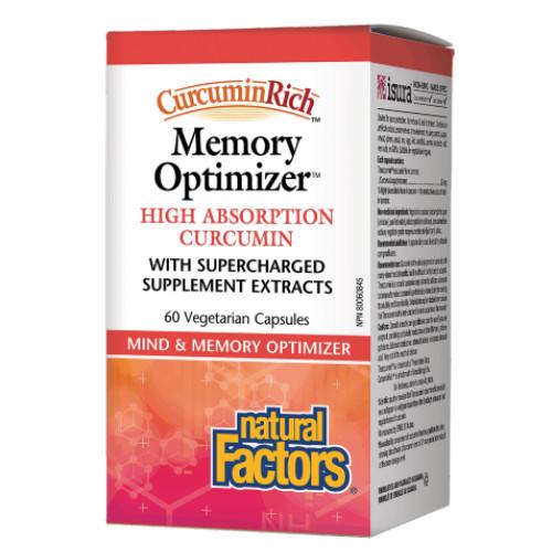 Natural Factors CurcuminRich Memory Optimizer, mind and memory.  60 vcaps