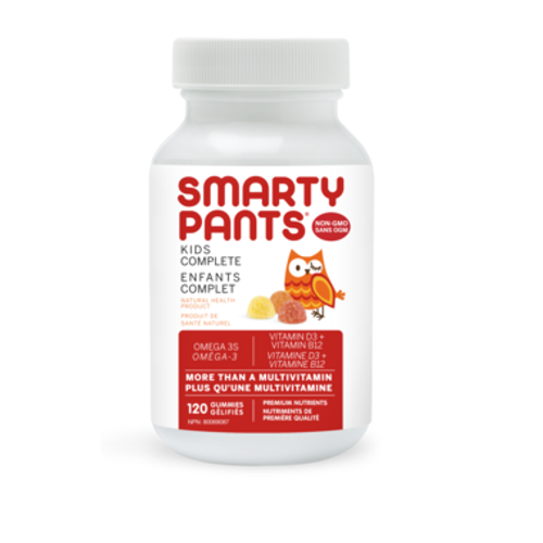 Smarty Pants Kids Complete multivitamin gummies with omega 3s and vitamin D.  120 gummies.