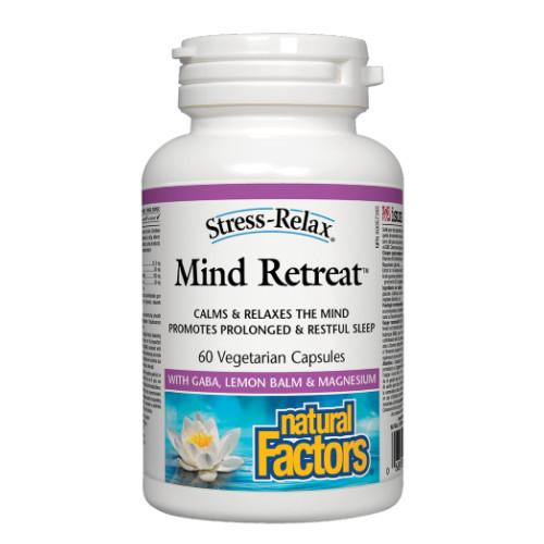 Natural Factors Stress Relax Mind Retreat, calms 60veg caps