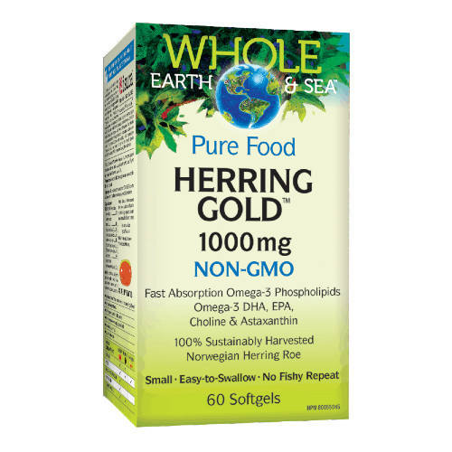 Natural Factors Whole Earth & Sea Herring Gold 1000 mg 60 softgels