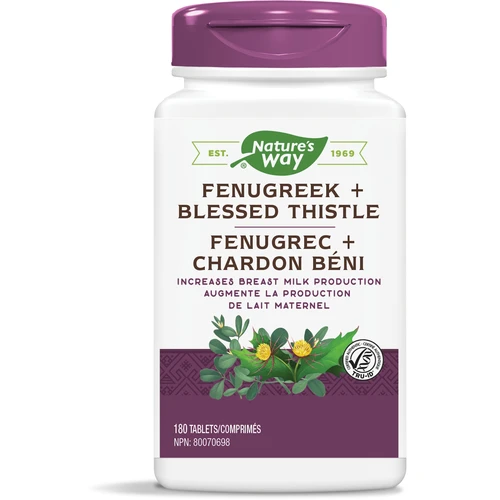 Nature's Way Fenugreek & Blessed Thistle 180 tablets Canada
