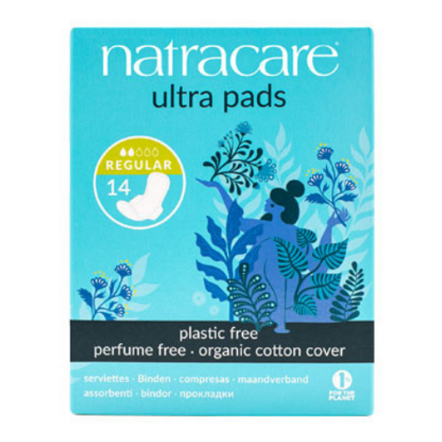 Natracare - Regular Absorbency Organic Cotton Cover Ultra Pads New Look