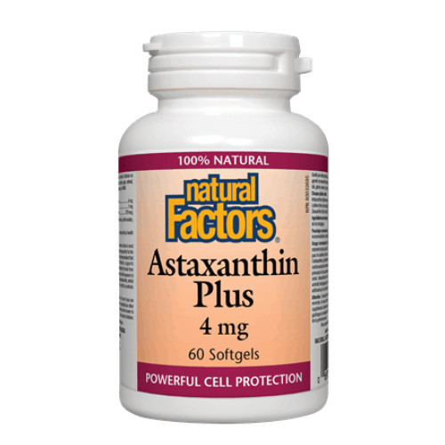 Natural Factors Astaxanthin Plus.  60 softgels