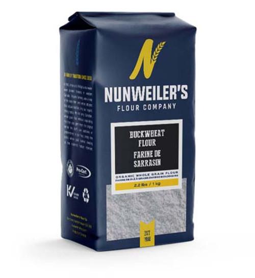 Nunweiler's Buckwheat Organic Whole Grain Flour, 1 kg