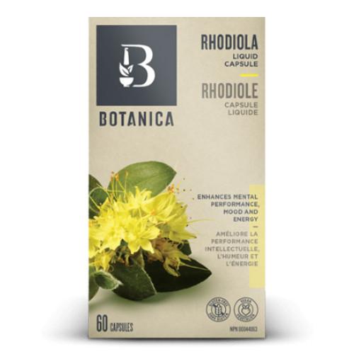 Botanica Rhodiola Liquid caps to promote energy and mood.  60 caps