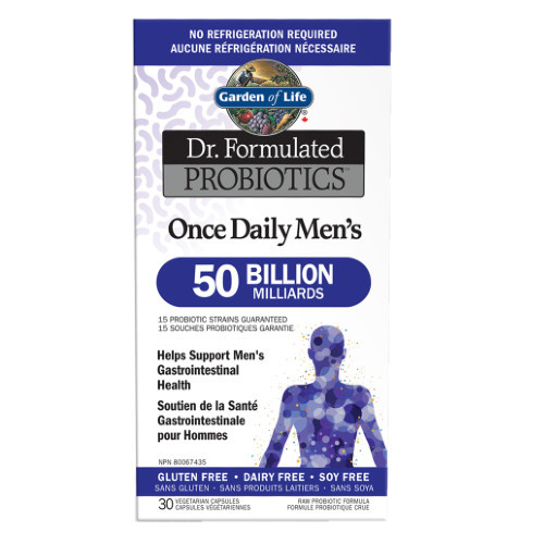 Garden of Life Dr. Formulated Once Daily Men's Probiotic.  30 caps