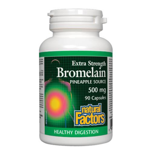 Natural Factors Extra Strength Bromelain Pineapple Source 90 capsules Canada