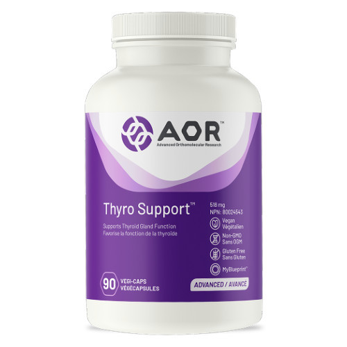 AOR Thyro Support, proper functioning thyroid gland.  90 vegi-caps