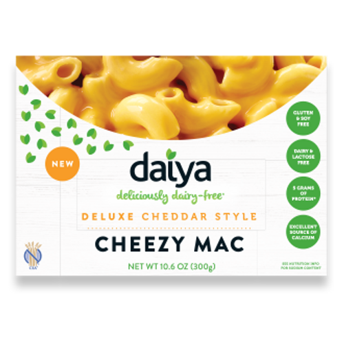 Daiya Cheezy Mac, dairy free mac and cheese.
