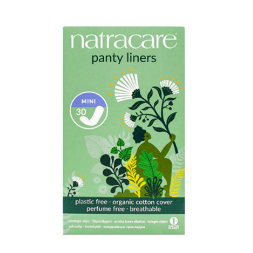 Natracare Mini Panty Liners Organic Cotton 30 per package