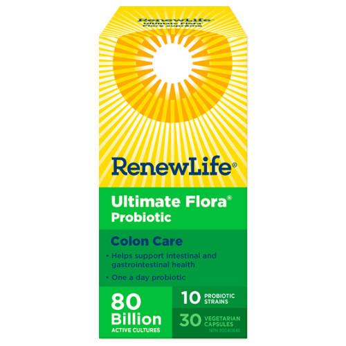 Renew Life Ultimate Flora Colon Care, IBS, Colitis, probiotic 30 vegetable capsules.
