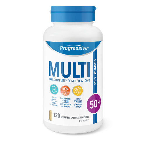 Progressive Multivitamins Men 50+ .  120 veg caps