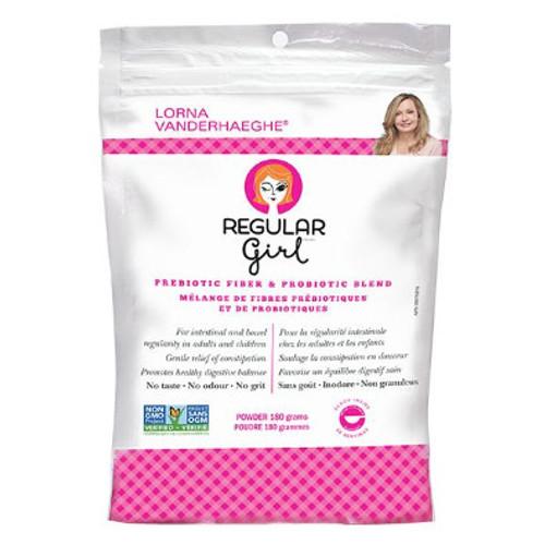 Lorna Vanderhaeghe Regular Girl Prebiotic Fiber and Probiotic Blend.  Bowel regularity.