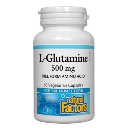 Natural Factors L-Glutamine 500 mg, amino acid, 60 veg caps