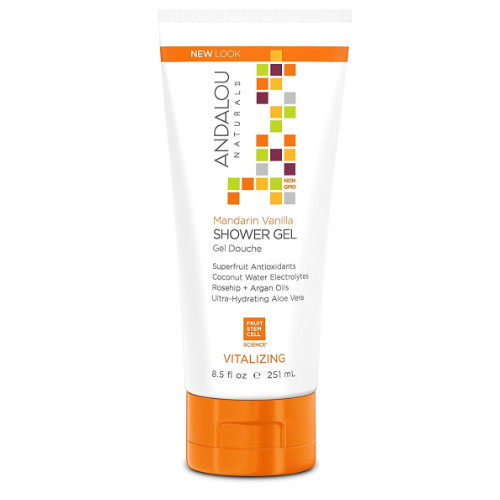 Andalou Naturals Mandarin Vanilla Shower Gel, vitalizing, 251 ml.