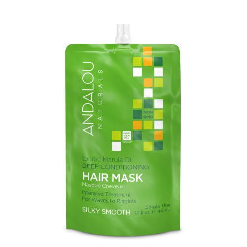 Andalou Naturals Hair Mask for waves to ringlets.  Single use.
