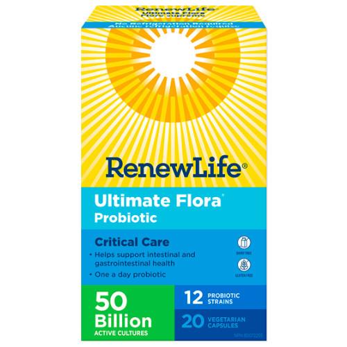 Renew Life Ultimate Flora Probiotic Critical Care No Refrigeration Canada Go Pack