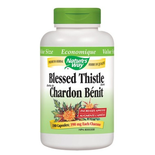 Nature's Way Blessed Thistle Herb, increase appetite, 180 caps